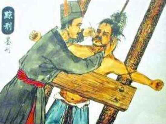 黥刑又稱墨刑,古代五大肉刑之一(在犯人的臉上刻字)